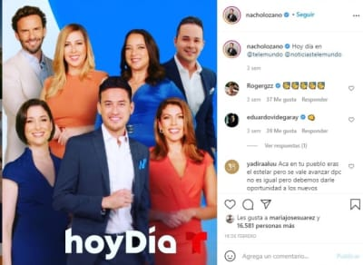 Nacho Lozano Today Telemundo Day