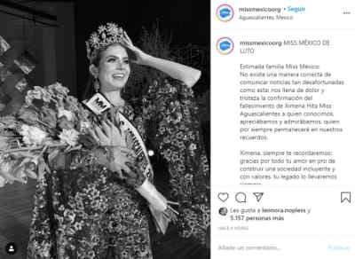 Ximena Hita sin vida 2 ex miss Aguascalientes