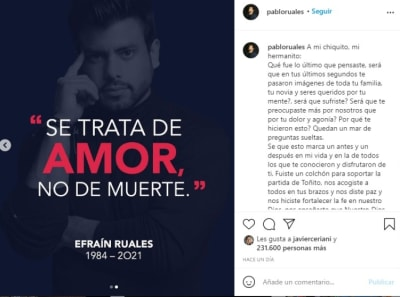 Pablo Ruales Brother Efraín Ruales message 2