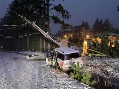 Tormenta Invernal Sin electricidad, Oregon, Estados Unidos