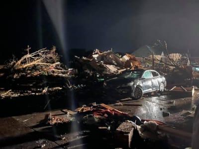Tormenta Invernal Muertos, muertes tornado