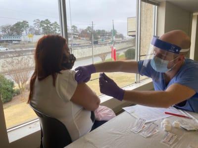 Coronavirus vaccination session at the Consulate General of Mexico in Atlanta