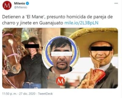 Detienen asesino charros calcinados 2 El Mane