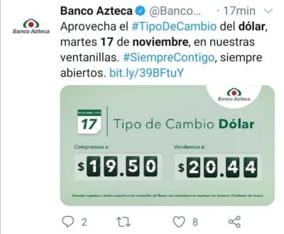 Peso mexicano 17 de noviembre