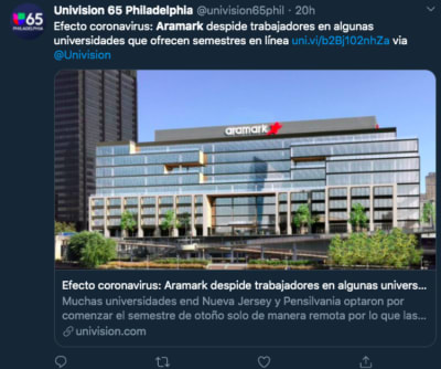 Aramark anuncia más despidos