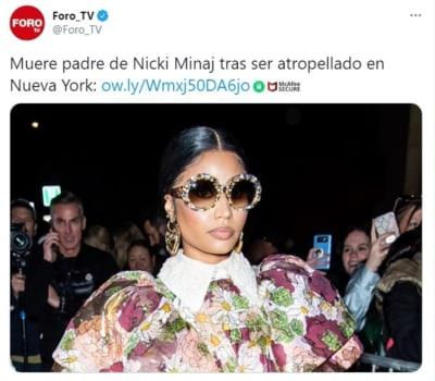 Padre Nicki Minaj muere Robert Maraj