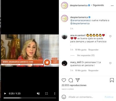 Ana María Canseco Despierta América