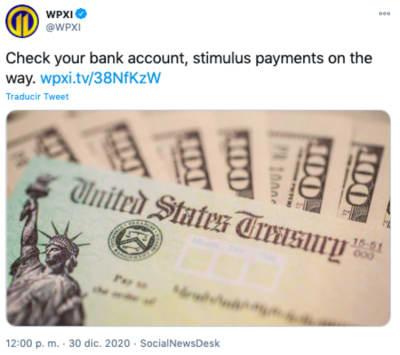 envío de cheques