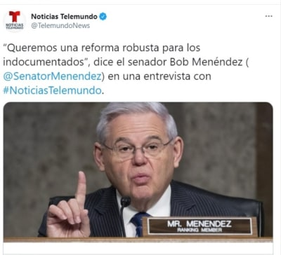 Bob Menéndez reforma migratoria