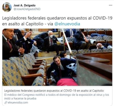 Legisladores Capitolio coronavirus 2