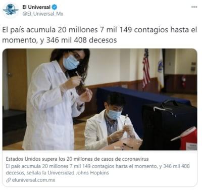 Estados Unidos record contagios 1