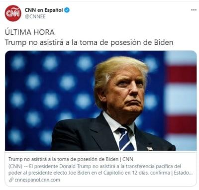 Trump toma de posesión Biden 2
