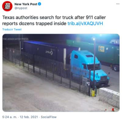 camión de inmigrantes
