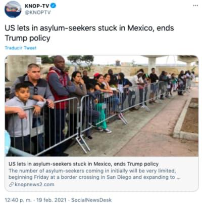 A partir de este viernes podrán entrar a EE.UU. quienes buscan asilo a la espera de que los tribunales decidan sobre sus peticiones