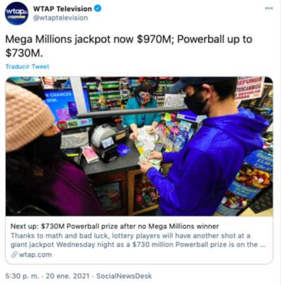 ganador mega millions