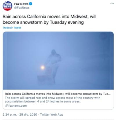 tormenta en california