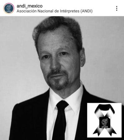 Confirman el fallecimiento del actor mexicano René Escandón