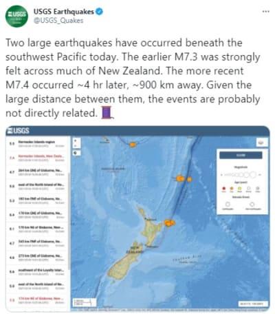 Second New Zealand Earthquake, Quake