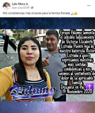 """Hija músico asesinada México, Víctor Estrada """"Cobrita"""", Victoria Elizabeth Estrada Puente, Grupo Palomo"""