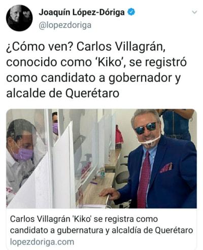 Quico, de El Chavo del 8, se lanza como precandidato a gobernador