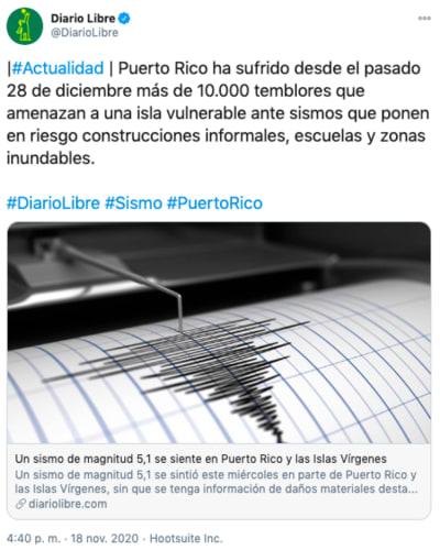 sismo sacude puerto rico