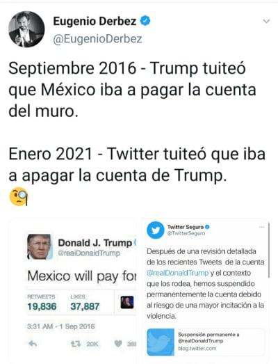 Después de burlarse de Paty Navidad, Eugenio Derbez ahora se burla de Trump