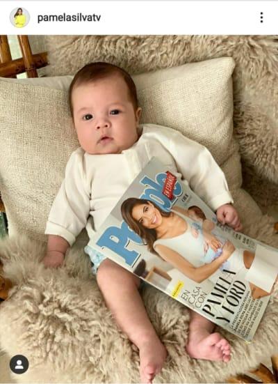 Pamela Silva muestra por primera vez carita de su bebé