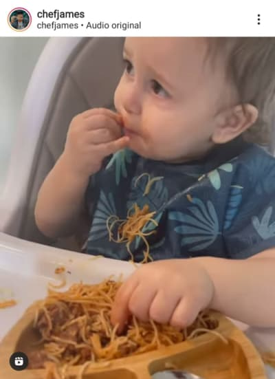 Chef James shares video of his baby and suspicions are confirmed
