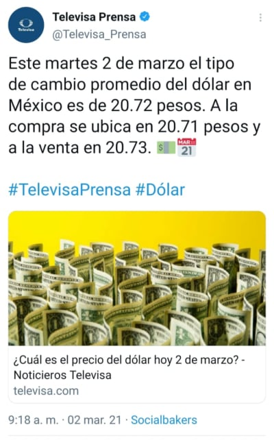 Mexican peso March 2, this is how the dollar sells today