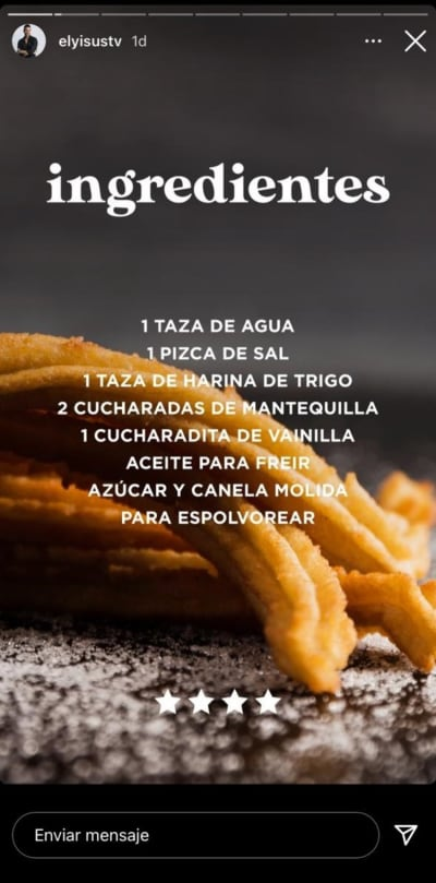 Heart attack!  The churros of Chef Yisus that you can not stop trying