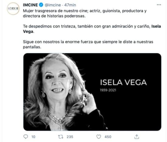 Isela Vega dies