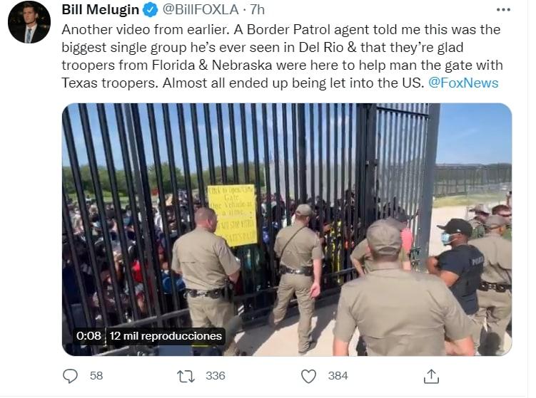 video migrantes frontera Texas: Un portavoz dio declaraciones