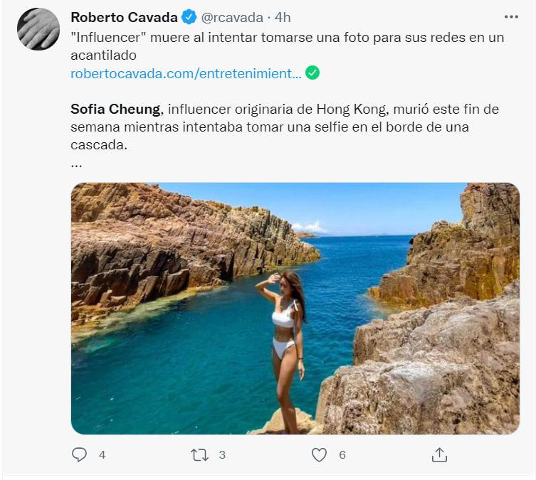 Influencer muere tras fotografía: Había partido a un fin de semana con amigos