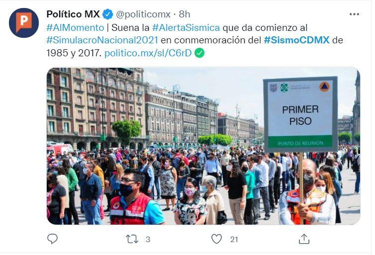 Registran sismo México septiembre: No fue de gran intensidad
