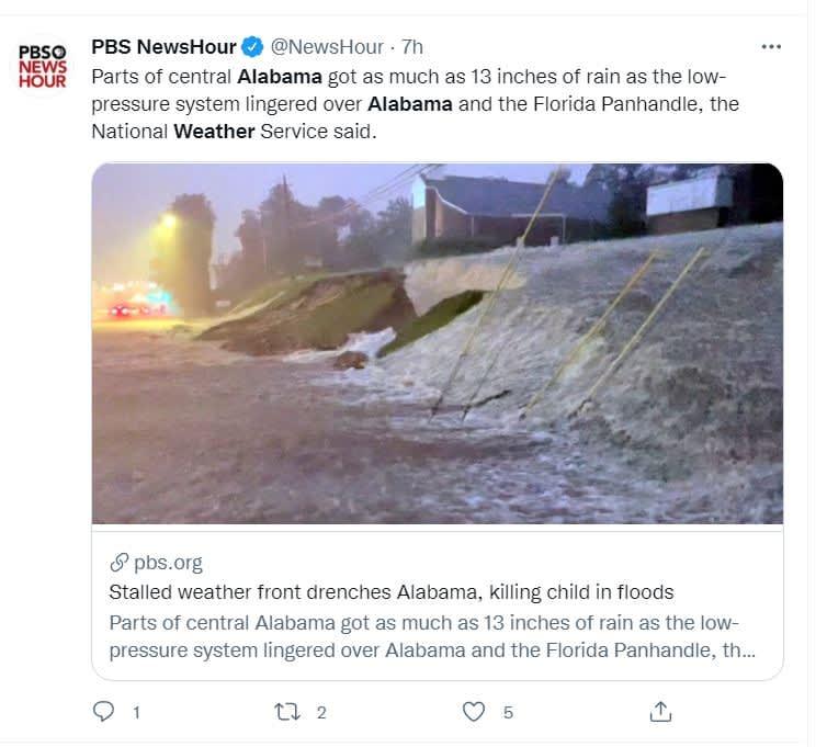 Inundaciones Alabama dejan muertos: Las familias fueron notificadas