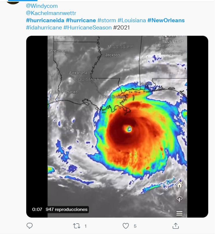 Huracán Ida Luisiana impacto: Ida toca tierra