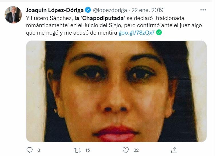 Se sintió traicionada por el Chapo