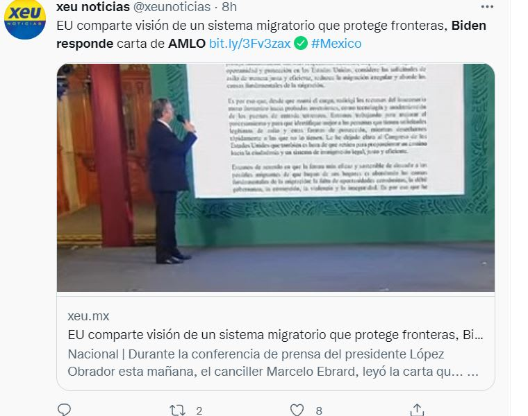 Biden AMLO letter content: The vision they share