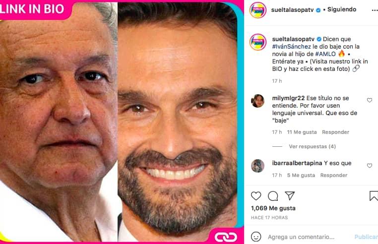 Iván Sánchez, AMLO (Instagram)