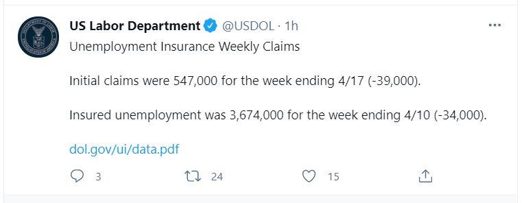 desempleo cae por segunda semana
