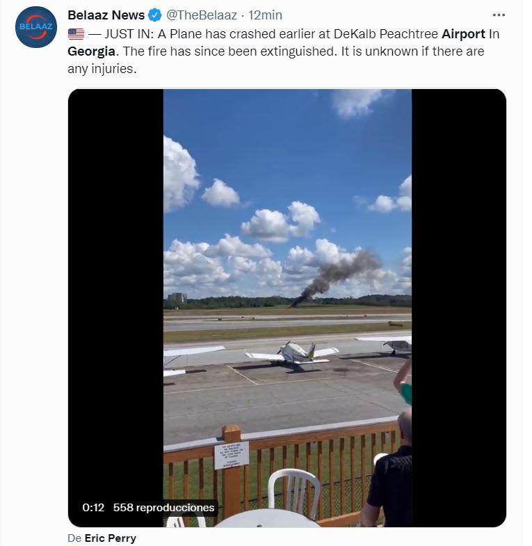 Estrella avión aeropuerto Georgia: El incidente se reportó a la una de la tarde