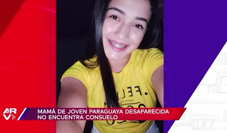 """""""Demasiado duro, no puedo hablar"""". Mamá de joven paraguaya desaparecida en derrumbe logra llegar a Miami"""