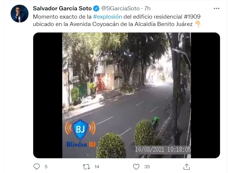 Mexico building explosion video: The mayor's office offered accommodation for the victims