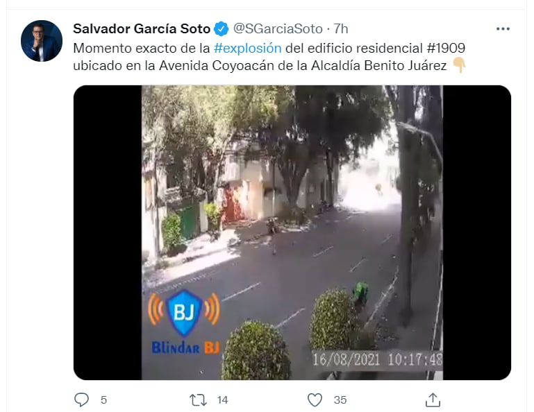 Mexico building explosion video: The explosion