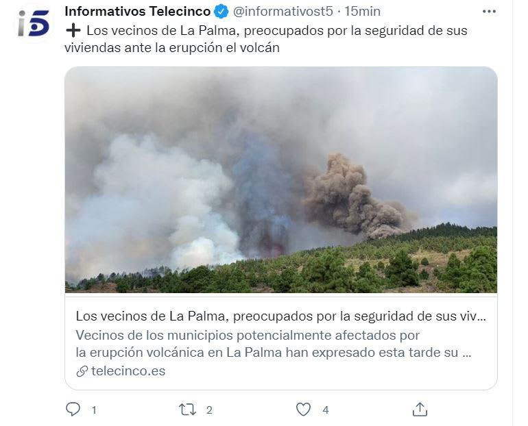 Volcán estalla La Palma: Informaron de la erupción