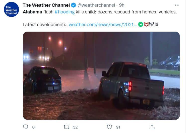 Inundaciones Alabama dejan muertos: Los estragos de las lluvias