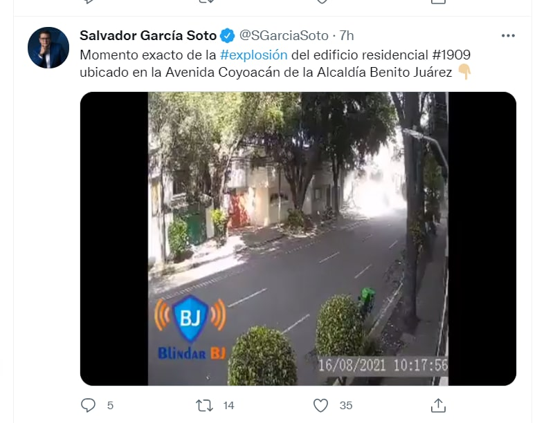 Mexico building explosion video: The seconds after the explosion