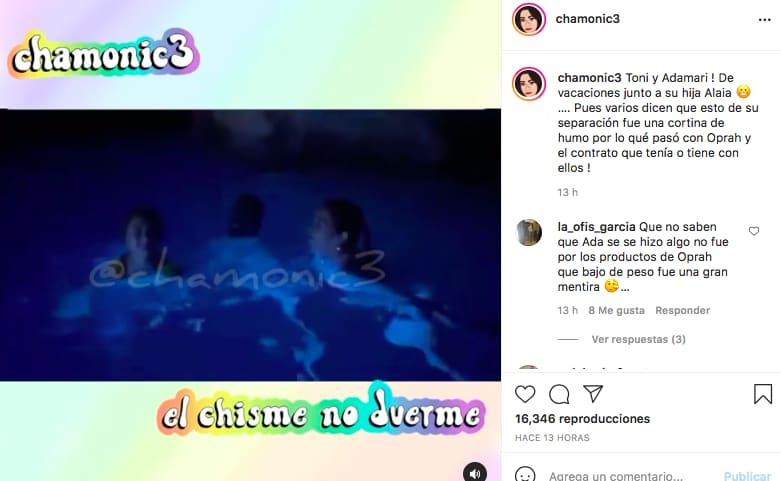 Adamari López ya no se quedó sin 'salir' en los videos de su aún pareja Toni Costa