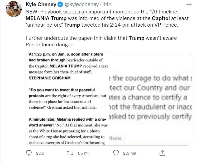 Grisham acusación Melania Trump: La pregunta de Stephanie