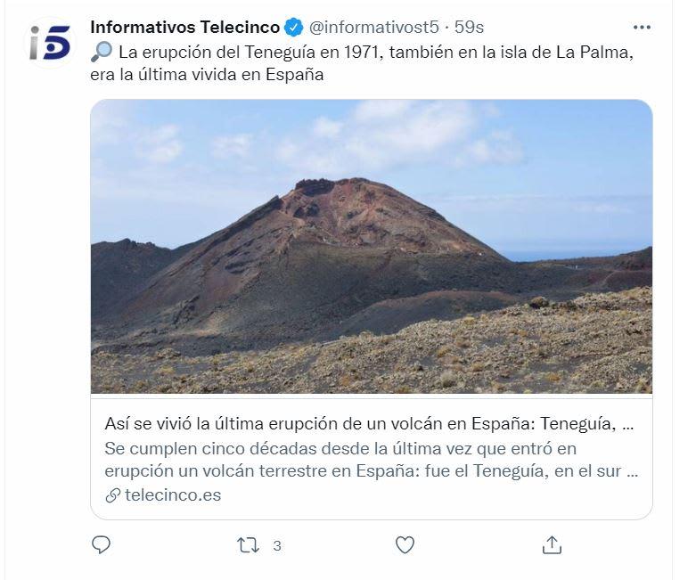 Volcán estalla La Palma: La erupción en La Palma